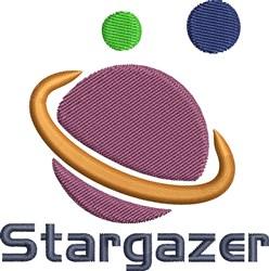 Stargazer embroidery design