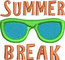 Summer Break embroidery design