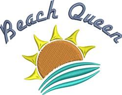 Beach Queen embroidery design