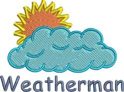 Weatherman embroidery design
