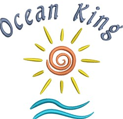Ocean King embroidery design