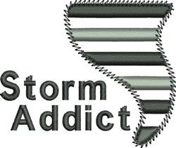 Storm Addict embroidery design