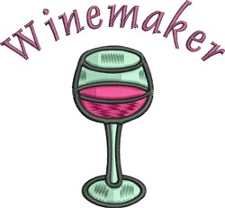 Winemaker embroidery design