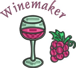 Wine And Grapes embroidery design