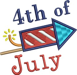 4th Of July Rocket embroidery design