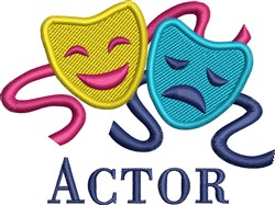 Comedy Tragedy Masks embroidery design