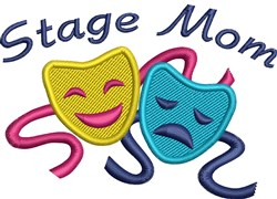 Stage Mom Masks embroidery design