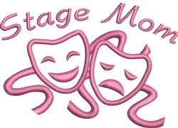 Stage Mom Masks Outline embroidery design