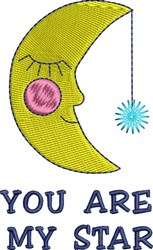You Are My Star embroidery design