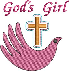 Gods Girl embroidery design