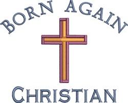 Born Again Christian embroidery design