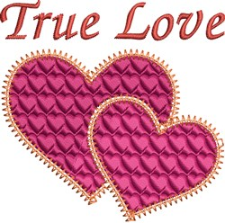 True Love Hearts embroidery design