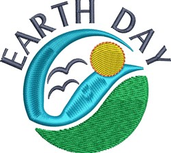 Earth Day Sky embroidery design
