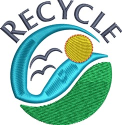 Recycle Sky embroidery design