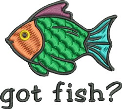 Got Fish? embroidery design