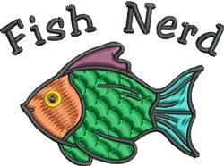 Fish Nerd embroidery design