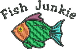 Fish Junkie embroidery design
