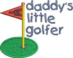 Daddys Little Golfer embroidery design