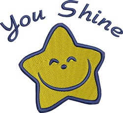 You Shine Happy Star embroidery design