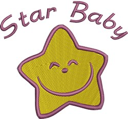 Happy Star Baby embroidery design
