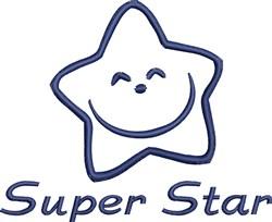 Happy Super Star Outline embroidery design