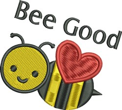 Bee Good embroidery design