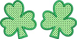 Two Little Shamrocks embroidery design