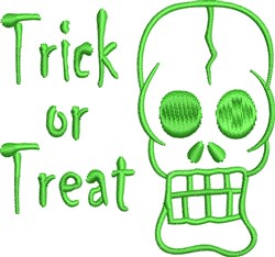 Trick Or Treat Skull embroidery design