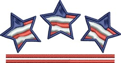 Memorial Day Stars embroidery design