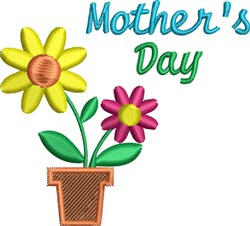 Mothers Day Daisies embroidery design