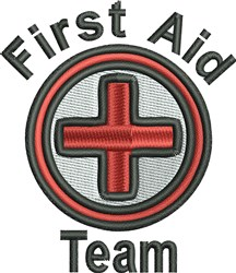 First Aid Team embroidery design