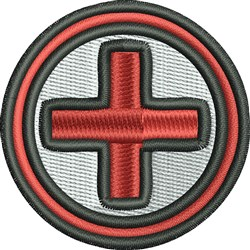 Red Cross embroidery design