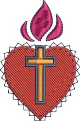 Sacred Heart embroidery design