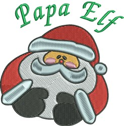 Papa Elf Santa embroidery design