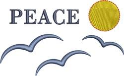 Peace Seabirds Silhouette embroidery design