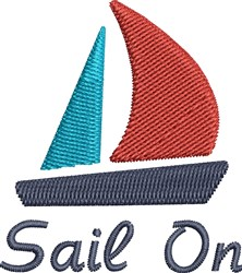 Sail On embroidery design