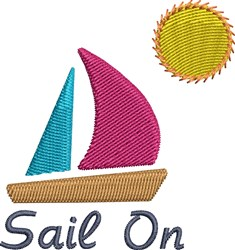 Sail On And Sun embroidery design