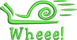 Wheee Snail embroidery design