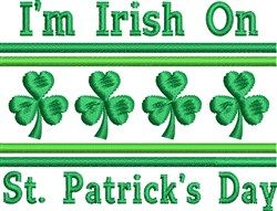Irish St. Patrick's Day embroidery design