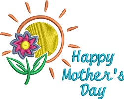 Happy Mothers Day Flower embroidery design