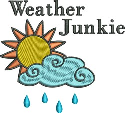Weather Junkie embroidery design