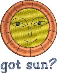 Got Sun? embroidery design