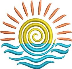 Sun Water Swirl embroidery design