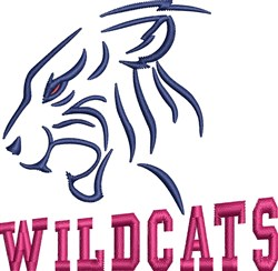 Wildcats Head embroidery design