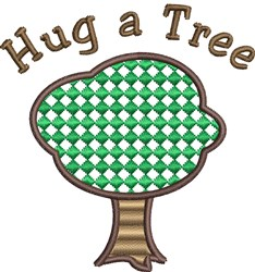 Hug A Tree embroidery design