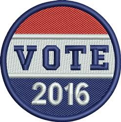 Vote 2016 Button embroidery design