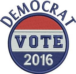 Democrat Vote 2016 Button embroidery design
