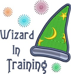 Wizard In Training Hat embroidery design