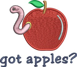 Got Apples? embroidery design