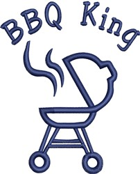 Barbecue Grill  Outline embroidery design